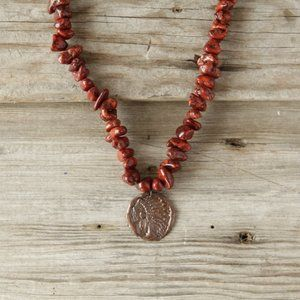 Jewelry - Red Turquoise Indian Coin Necklace